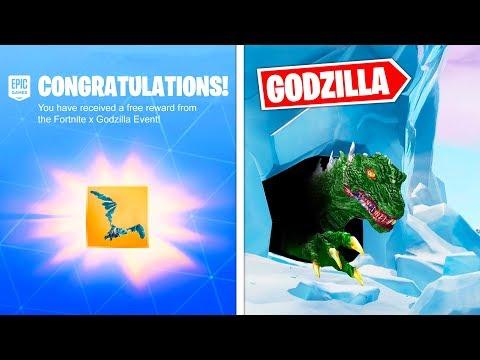 The GODZILLA EVENT FREE SKINS in Fortnite...