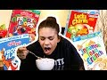 Eating Cereal For the First Time (taste testing)