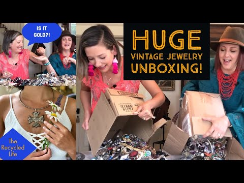 Thrifted Jewelry Unboxing Haul | Jewelry Haul | Thrift With Us | The Recycled Life