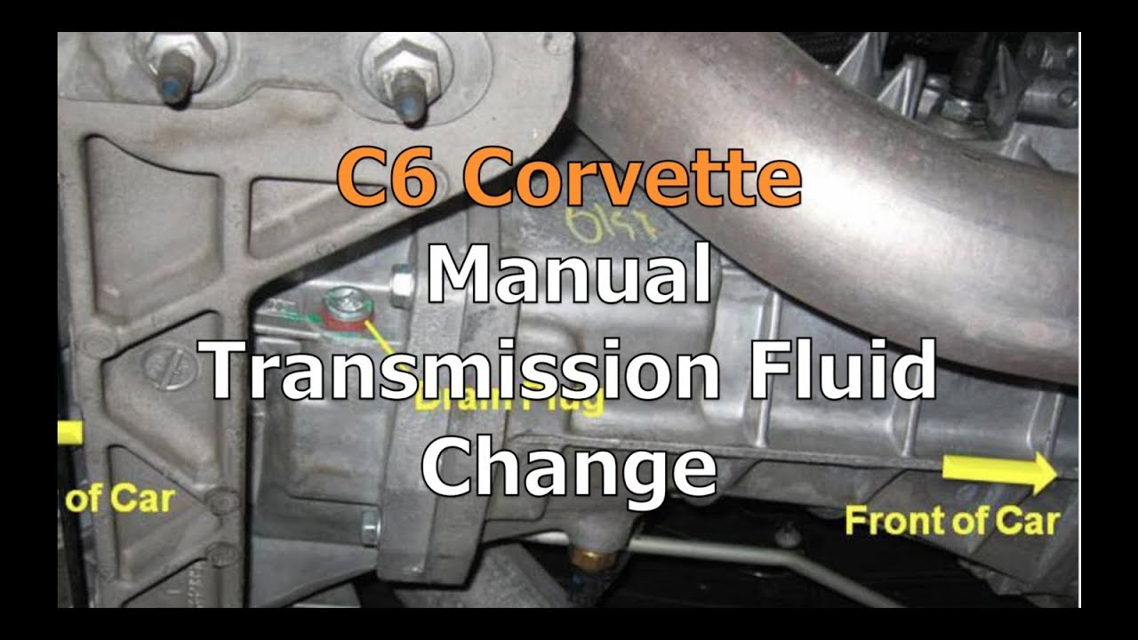 C6 Corvette Manual Transmission Fluid Change Youtube