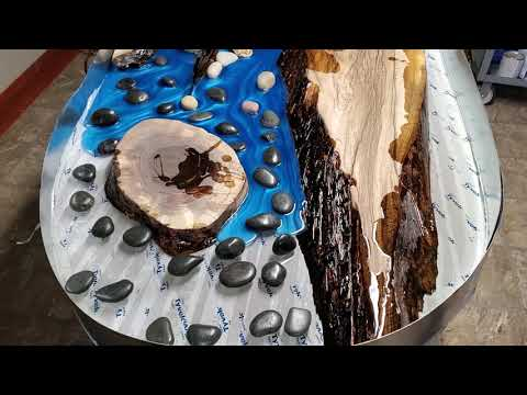 Epoxy Resin River Flow - Custom Live Edge Coffee Table
