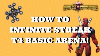 how to inifinte streak t4 basic arena   marvel contest of champions