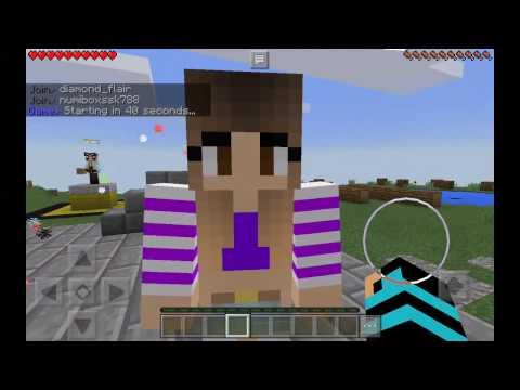 A girl kissed me in minecraft pe!!!   minecraft let's play