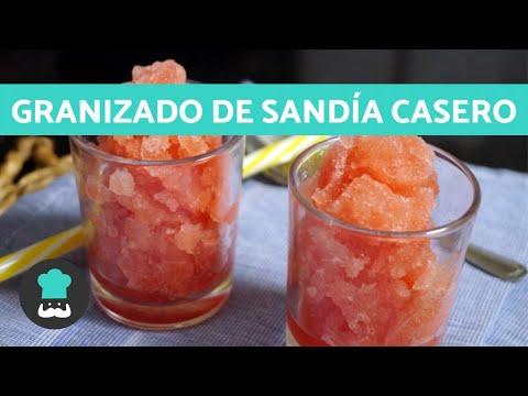 GRANIZADO de SANDÍA Casero 🍉 - Receta Fácil y Rápida
