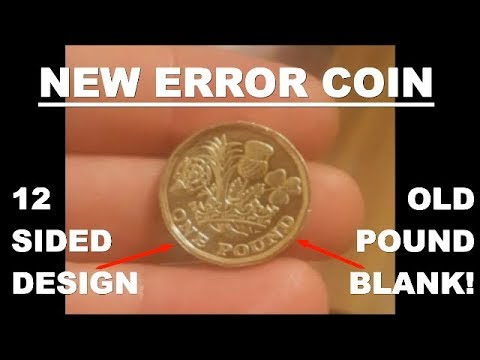 *NEW ERROR COIN* 12 SIDED £1 COIN MINTED ON OLD ROUND POUND BLANK!