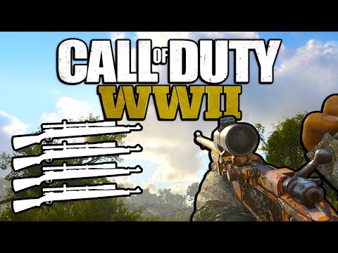Quad Feed with Every Gun! (Call of Duty WW2)