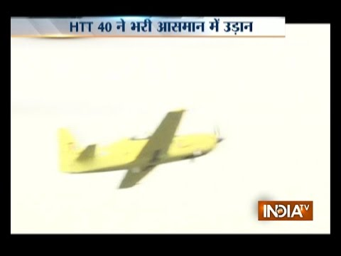 Test Flight of India's First Trainer Aircraft HTT-40 Conducted in Bengaluru