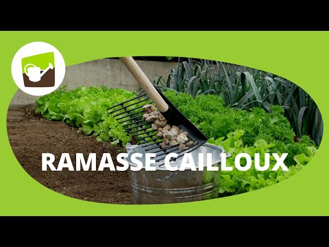 Le r teau ramasse cailloux jardin et saisons youtube for Decoration jardin galets blancs