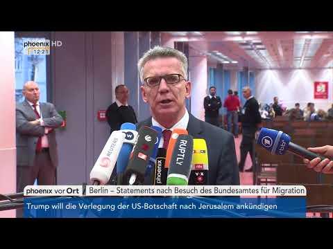 Thomas de Maizière nach dem Besuch des Bundesamtes für Migration am 06.12.17