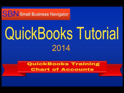 QuickBooks Training 2014 - How to Set Up Chart of Accounts - YouTube