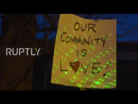 USA: LGBTQ activists perform dancing protest outside home of Mike Pence
