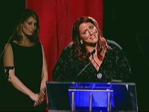 Ruby Gettinger receives a 2009 Gracie Award  Presented by Melissa Rivers