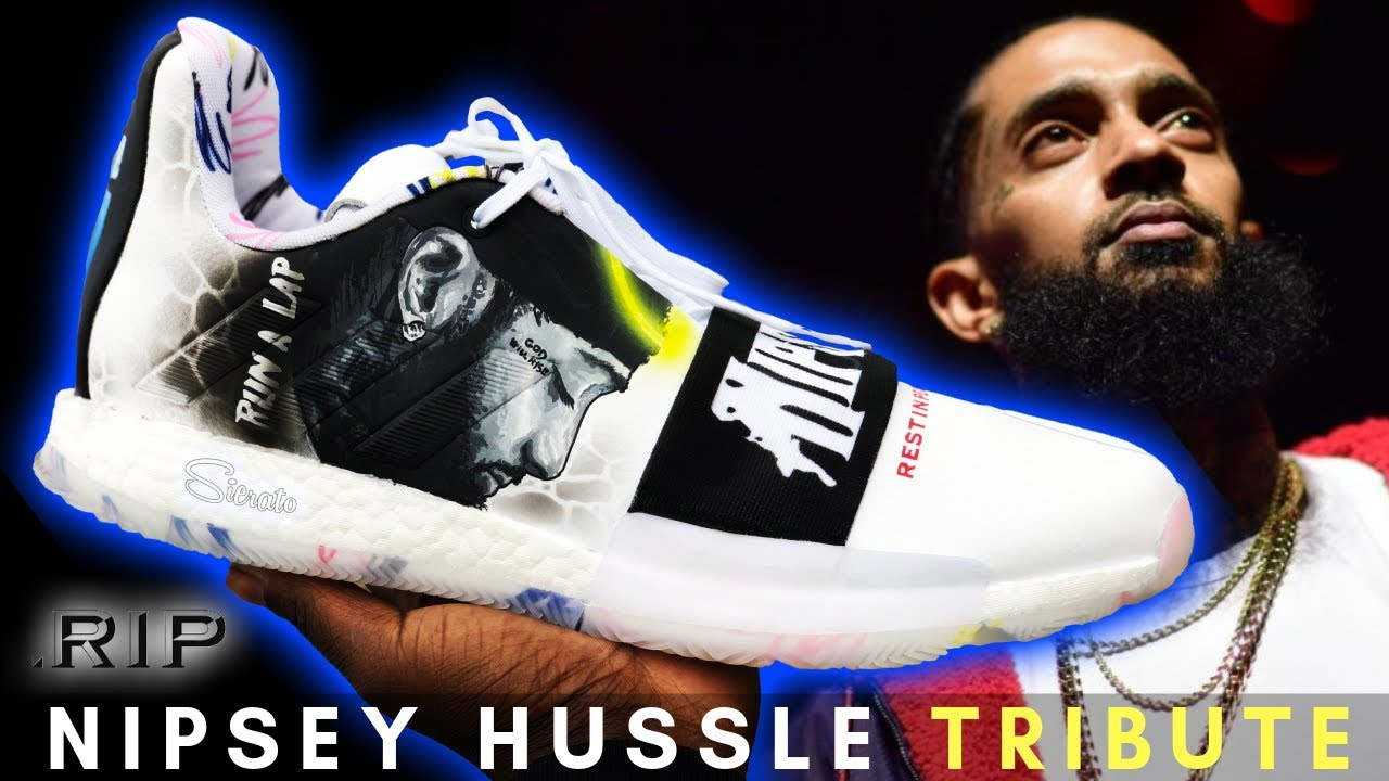 new arrival bc55d 4fc23 R.I.P. Nipsey Hussle Tribute Harden 3s   Full Custom by Sierato. Read more  This is a ...