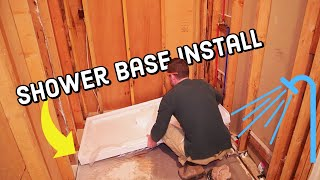 How to Install a DreamLine Shower Base With Oatey Drain