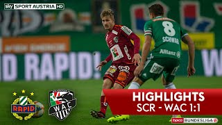Highlights: Tipico Bundesliga, 11. Runde: SK Rapid Wien - Wolfsberger AC 1:1