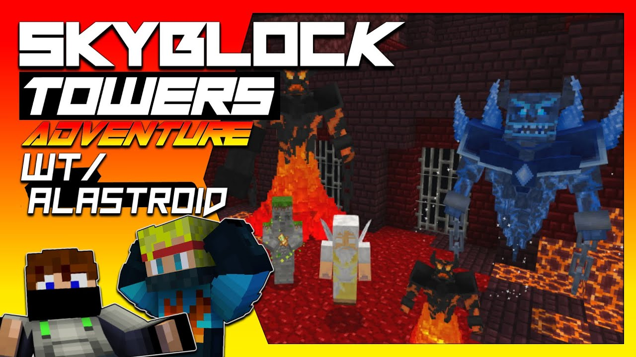 Skyblock Towers Adventure wt/ Alastroid | Bedrock Edition Map Gameplay - Minecraft Hindi