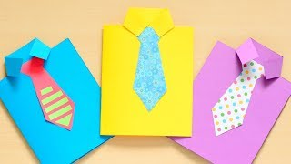 How to Make a Father's Day Shirt Card - fun paper craft for kids