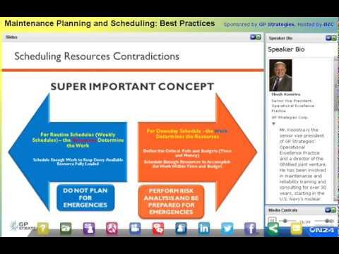 Webinar: Maintenance Planning and Scheduling Best Practices