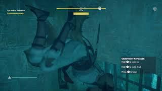 Assassin's Creed: Origins - Aya: Blade of the Goddess: Aya & Bayek Explore The Tunnels, Swimming PS4