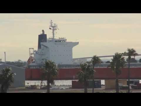 Azalea Sky Panama IMO 9433652 vessel (Bulk Carrier Ship) departs Newcastle port Shipspotting