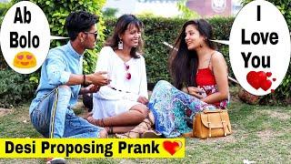 Desi bhojpuri boy proposing cute girls ||Prank In India|| Bharti prank