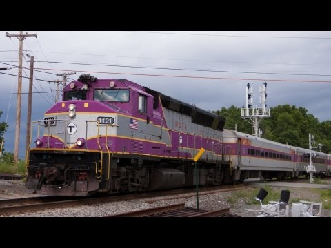 HD MBTA Commuter Rail Fitchburg Line Construction