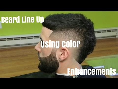 Beard Line Up Using Color Enhancements