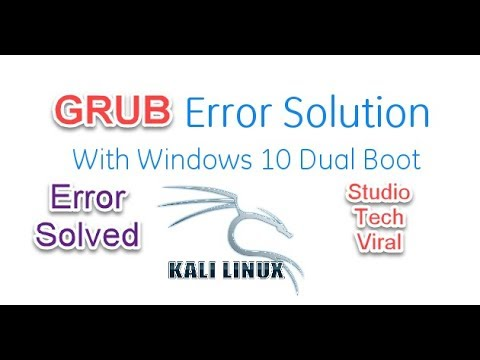 How To Fix Grub Error With Linux Dual Boot Os Boot