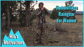 Hunting Gear for Gals - Field & Stream Camo Raingear for Women, Mia's Motivations(When new hunters ask what item to purchase first, I suggest camouflage rain gear. You can wear it over the top of anything, and it's important to stay dry during ..., 2015-12-19T16:35:32.000Z)