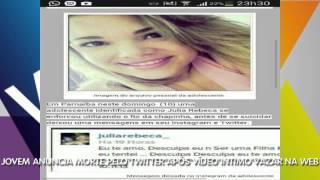 Após vídeo íntimo sair no WhatsApp, Júlia, uma piauiense anuncia morte pelo Twitter