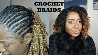 AFRO KINKY CURLY CROCHET BRAIDS || 8 INCHES