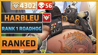 Rank 1 Roadhog Player Harbleu | Overwatch