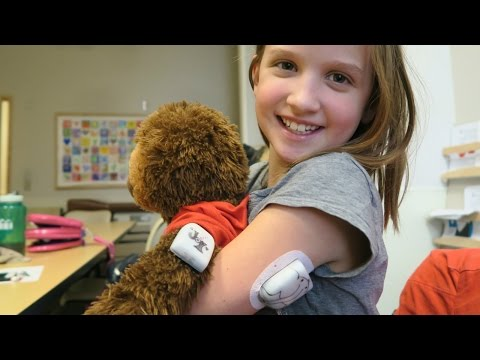 NO MORE SHOTS!!! DIABETIC KID USES OMNIPOD INSULIN PUMP FOR THE FIRST TIME!!!