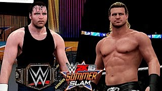 WWE SummerSlam 2016: Dean Ambrose vs. Dolph Ziggler (WWE World Championship)