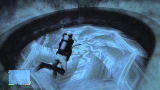Getting Inside the Underwater UFO - GTA 5 Easter Egg