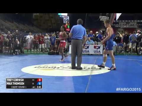 145 Champ. Round 1 - Max Thomsen (Iowa) vs. Trey Cornish (North Carolina)