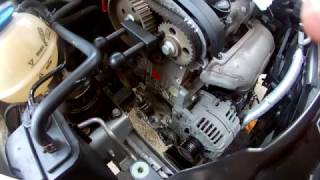 How to replace the timing belt. Skoda Roomster, Fabia II 1.4 16V 63 kw
