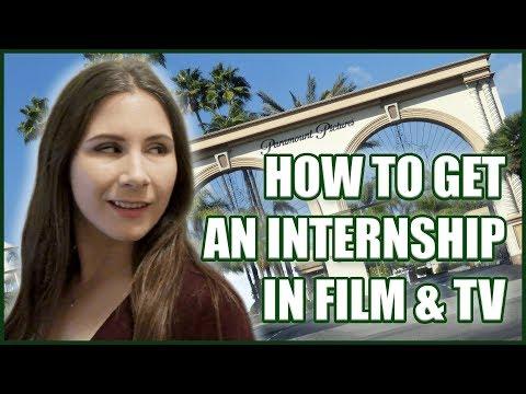 How To Get An Internship In Film & TV