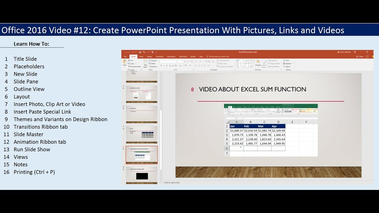 office 2016 video #12: create powerpoint presentation with, Presentation templates