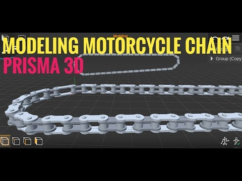 Modeling Motorcycle's Chain | Prisma 3D | MP Studios