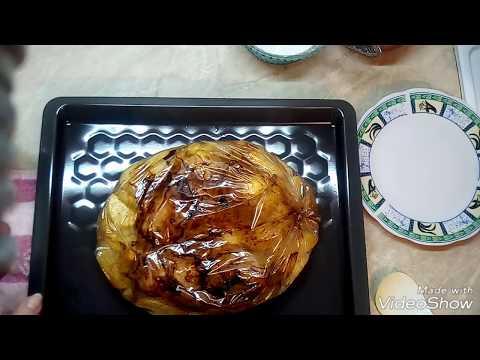 Куриные бёдрышки запечённые с картофелем в рукаве.