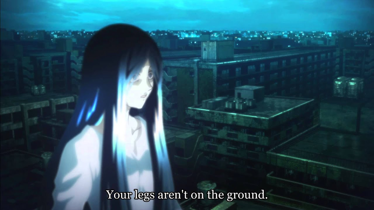 Interesting Anime Scenes Kara No Kyoukai Rooftop Fight