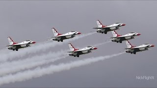 HD Salinas / California International Airshow 2014 | USAF Thunderbirds Flat Show
