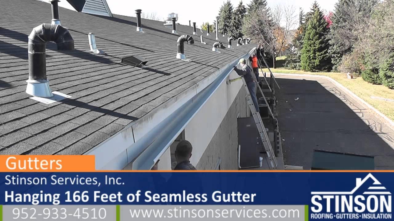 Minneapolis Gutter Company Installing 166 Feet Of
