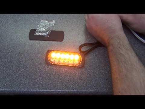12 LED Flashing Strobe Amber Light