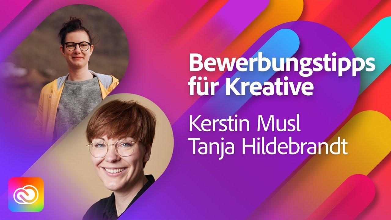 Top Tipps für Kreative bei Bewerbungsgesprächen mit Kerstin Musl  Adobe Live