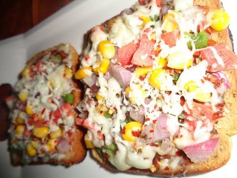 Bread Pizza on tawa in Indian style in 2 minutes # बनाए घर पर स्वादिष्ट ब्रेड तवा पिज़्ज़ा