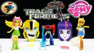 Mcdonald's Happy Meal Transformers Robots in Disguise My Little Pony Girls Toys-Family4Fun Toys 2015