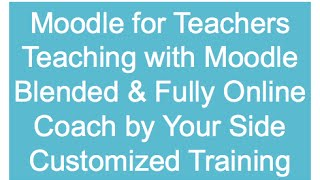 How to Teach with Moodle