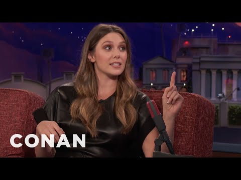 Elizabeth Olsen Accidentally Packed A Butcher's Knife In Her CarryOn Bag   CONAN on TBS